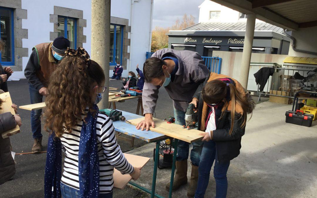 Ateliers bricolage à l'école !