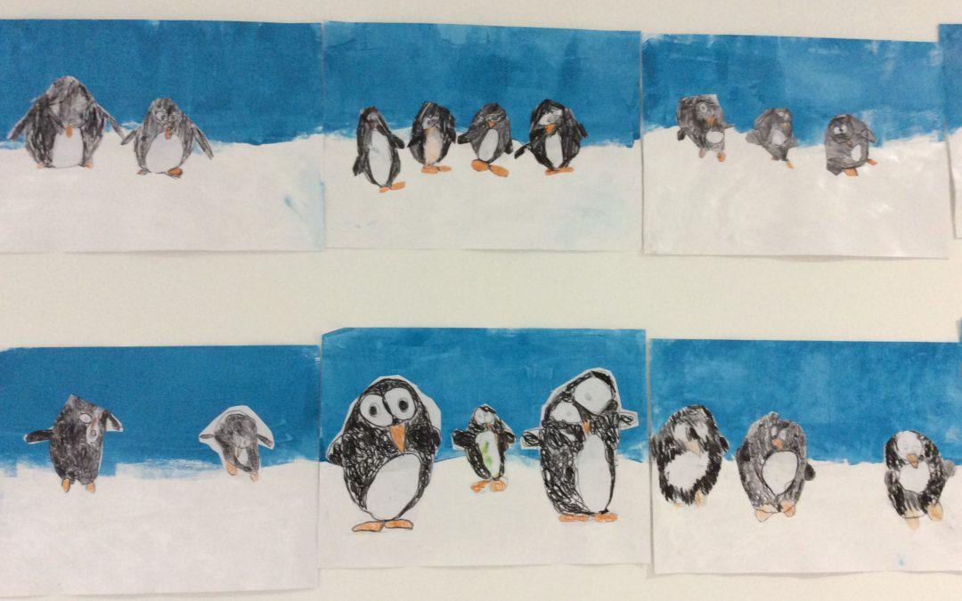 Pingouins sur la banquise en moyenne et grande sections