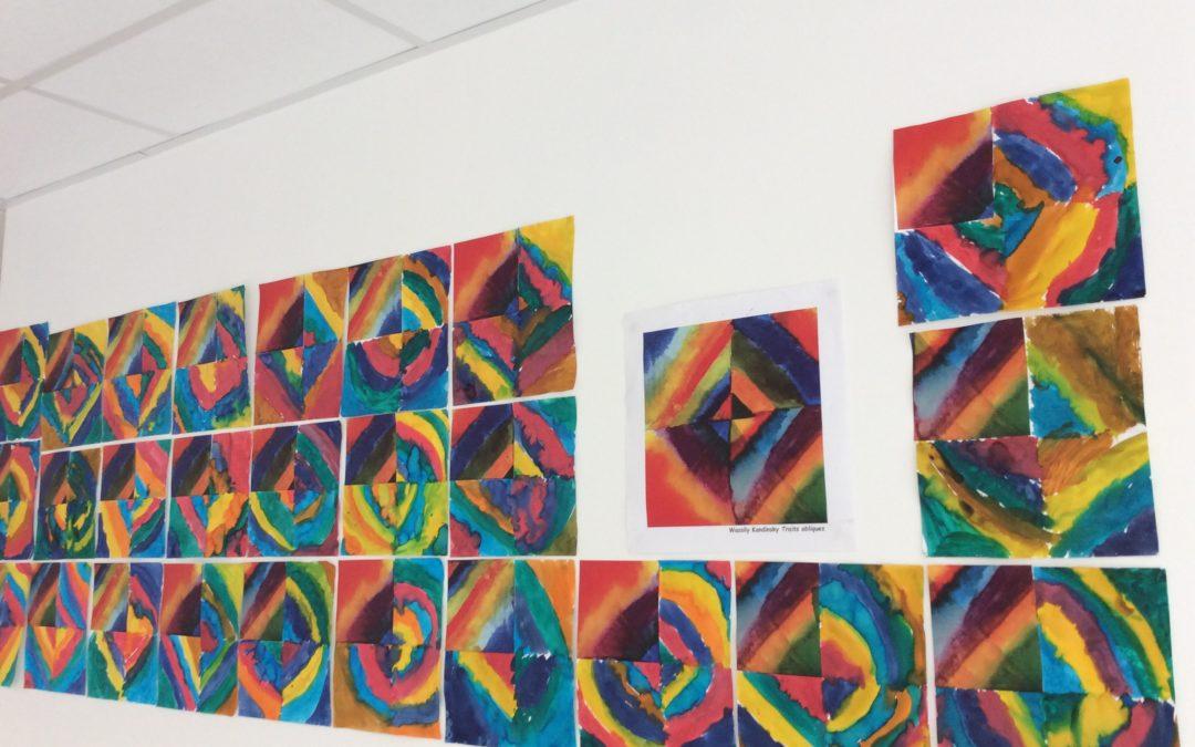 Des œuvres à la manière de Kandinsky chez les moyens/grands